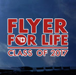 CDI® Class of 2017 Flyer For Life Color Shock Decal