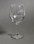 ERMA BOMBECK WINE GLASS