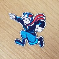 """3"""" EMBROIDERED EMBLEM PATCH RUDY FLYER POINTING"""