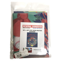 """Sewing Concepts® HOME BANNER 30""""x40"""" MERRY CHRISTMAS WREATH WITH BOW AND ORNAMENTS FLYING D LOGO"""