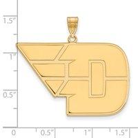 LogoArt® D-Wing 10K Yellow Gold XL Pendant Charm
