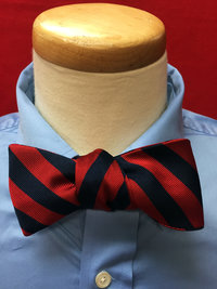 Crable® Red & Navy Stripe Bowtie