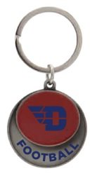 Neil® RED CUSTOM KEYTAG FLYING D LOGO OVER FOOTBALL