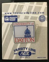 LAPEL PIN UNIVERSITY OF DAYTON CHAPEL BOX LOGO