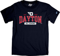 Blue 84® BASIC SS TEE EST. FLYING D LOGO 1850 DAYTON ALUMNI IN PILL