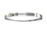 Collegiate Silver® University of Dayton Rhodium Plated Bangle