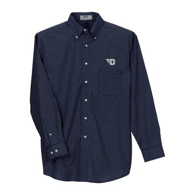 Vantage® Blended Poplin Plaid Shirt LC-Flying D Logo