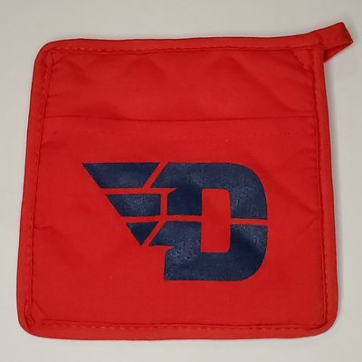 QUILTED COTTON CANVAS POT HOLDER FLYING D LOGO