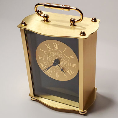 CSI CLOCK CARRIAGE II TABLE/DESK CLOCK UNIVERSITY OF DAYTON SEAL