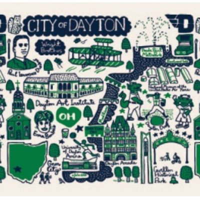 JULIA GASH LADIES SCARF CITY OF DAYTON