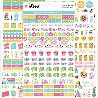 BLOOM PLANNER STICKERS PRODUCTIVITY PACK