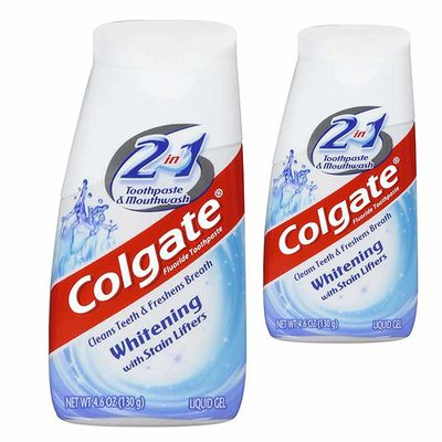 COLGATE 2IN1 LIQUID GEL WHITENING 4.6 OZ