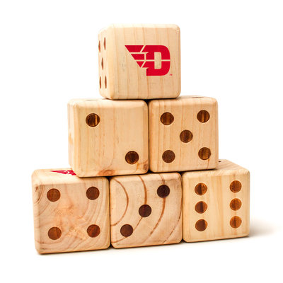 VICTORY TAILGATE LAWN DICE SET OF 6 FLYING D LOGO