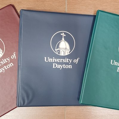"BINDER 1/2"" IMPRINTED UNIVERSITY OF DAYTON"