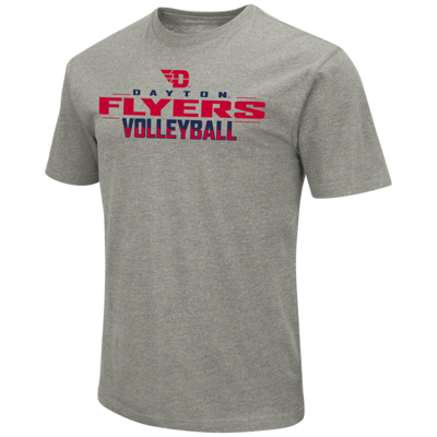 Colosseum® MENS PLAYBOOK SS TEE FLYING D LOGO DAYTON FLYERS VOLLEYBALL FLAMES