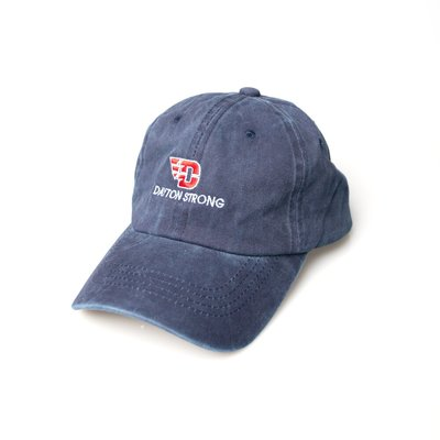 HANDY HATS NAVY HAT FLYING D LOGO OVER DAYTON STRONG