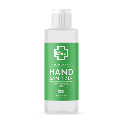 FRSH HANDS 8 OZ GEL HAND SANITIZER