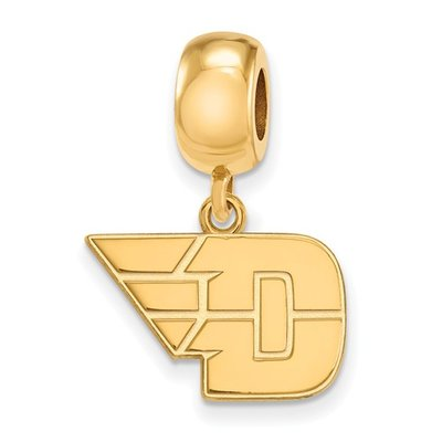 LogoArt® D-Wing Sterling Silver Gold Plated Dangle Bead Charm
