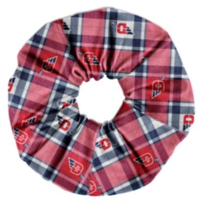 SPIRIT SCRUNCHIE PLAID WITH FLYING D LOGOS SCATTERED