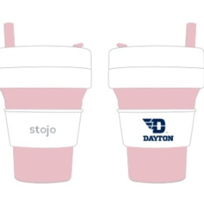 16 OZ COLLAPSIBLE CUP WITH STRAW FLYING D DAYTON LOGO