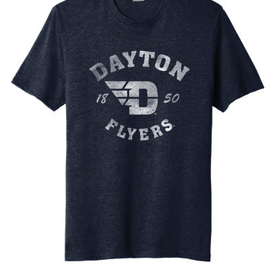 FLYER AUTHENTICS- SS TEE DAYTON ARCHED OVER FLYING D LOGO 1850 FLYERS