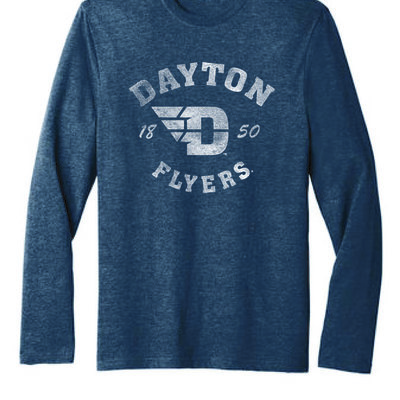 FLYER AUTHENTICS- LS TEE DAYTON ARCHED OVER FLYIG D LOGO 1850 FLYERS