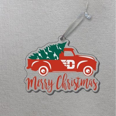 CDI® TRUCK ORNAMENT W/ FLYING D LOGO OVER MERRY CHRISTMAS