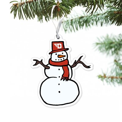 CDI® SNOWMAN ORNAMENT WITH SCAFT AND HAT FLYING D LOGO