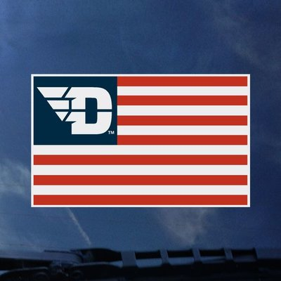 COLOR SHOCK DECAL FLYING D LOGO WITH AMERICAN FLAG