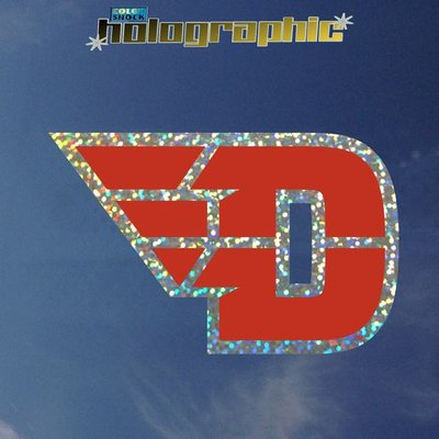 COLOR SHOCK DECAL FLYING D LOGO HOLOGRAPHIC