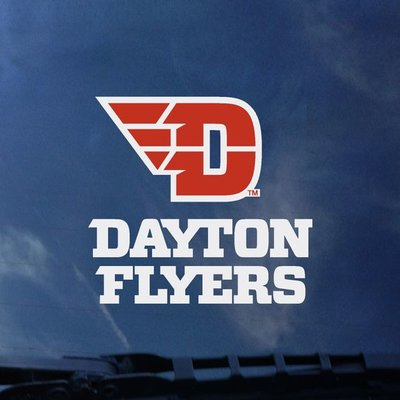COLOR SHOCK DECAL FLYING D DAYTON FLYERS STACKED LOGO