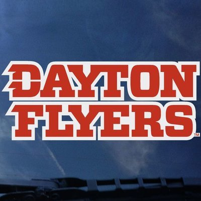 DECAL- DAYTON FLYERS STACKED LOGO DAY06-02