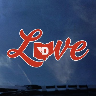 COLOR SHOCK DECAL LOVE OHIO WITH FLYING D LOGO