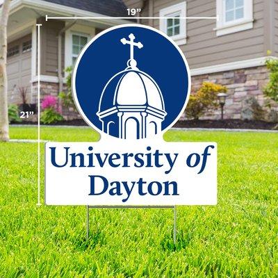 "CDI YARD SIGN UNIVERSITY OF DAYTON CHAPEL LOGO 21""H X 19"" W"