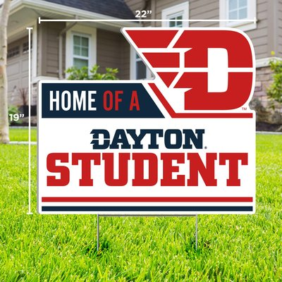 """CDI YARD SIGN HOME OF A DAYTON STUDENT FLYING D LOGO 19""""H X 22""""W"""