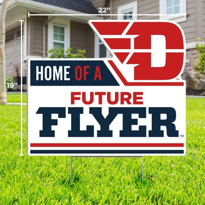 """CDI YARD SIGN HOME OF A FUTURE FLYER FLYING D LOGO 19""""H X 22""""W"""