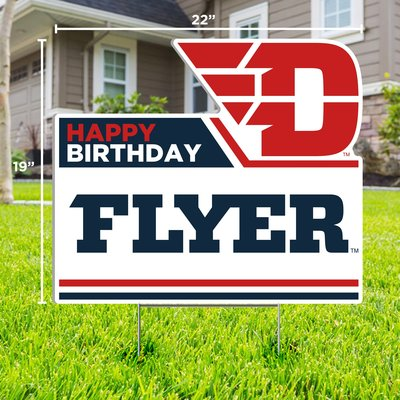"""CDI YARD SIGN HAPPY BIRTHDAY FLYER FLYING D LOGO 19""""H X 22""""W"""