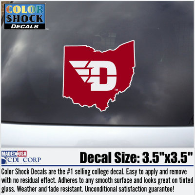 CDI® D-Wing Ohio Color Shock Decal