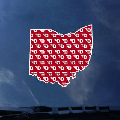 CDI® Dayton Ohio D-Wing Filled Color Shock Decal