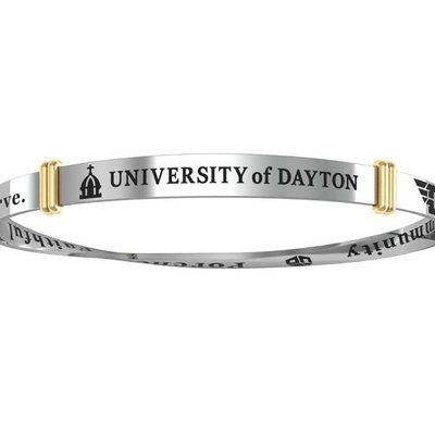 Collegiate Silver® University of Dayton Sterling Silver Bangle