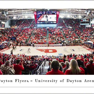 BLAKEWAY® PANORAMIC UNIVERSITY OF DAYTON ARENA 2020- UNFRAMED AND TUBE