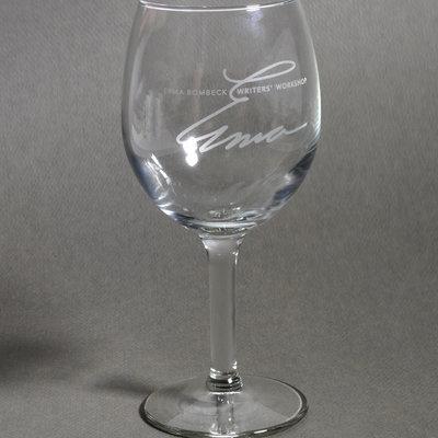 Erma Bombeck Wine Glass