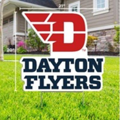 """CDI YARD SIGN FLYING D DAYTON FLYERS LOGO 20""""H X 21"""" W"""