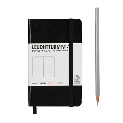 POCKET NOTEBOOK WITH CLASSIC HARDCOVER 185 PAGES DOTTED