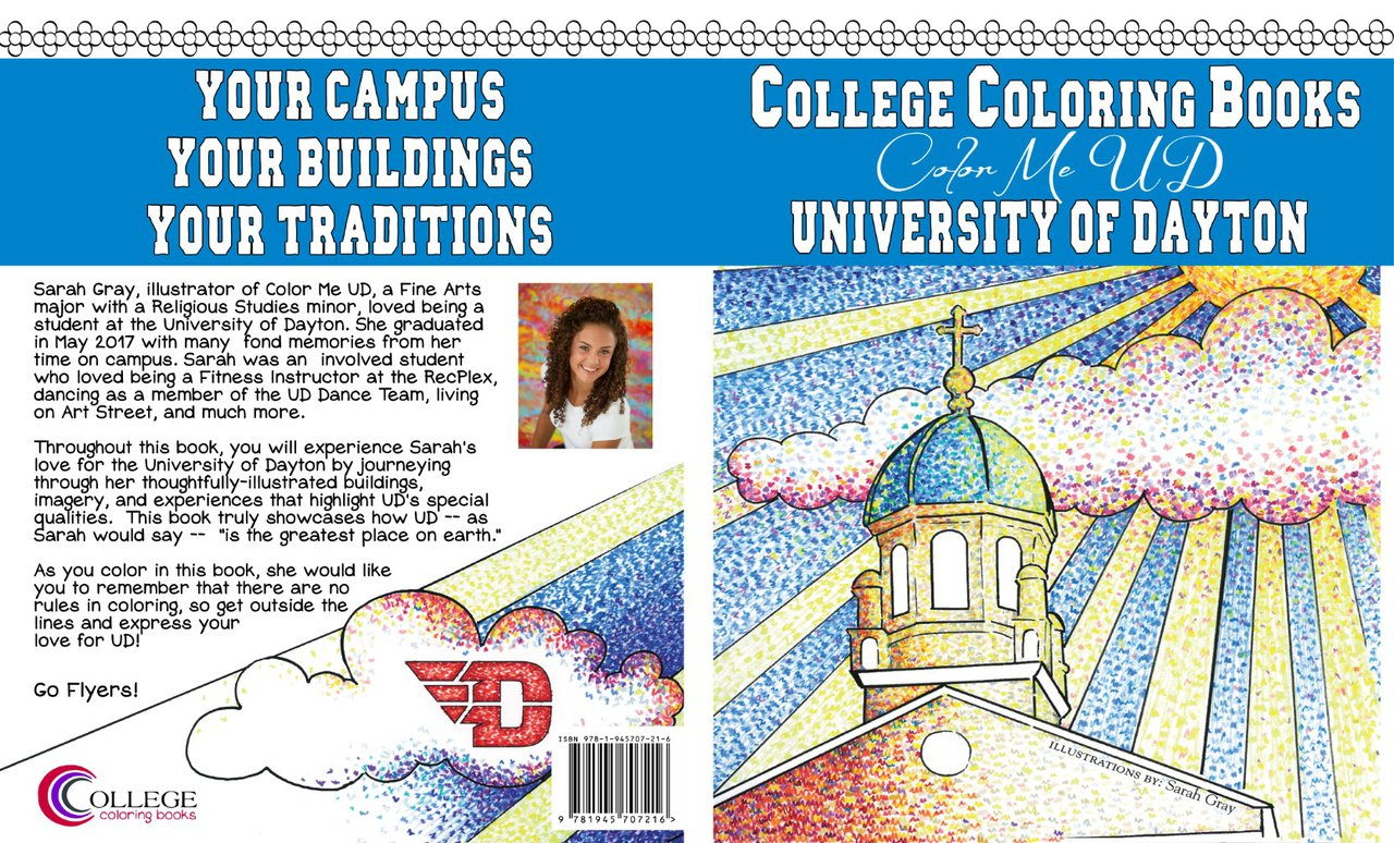 Color Me UD Coloring Book | University of Dayton Bookstore