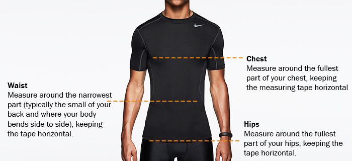 Nike Sizing Guide | University of Dayton Bookstore